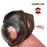 MASTERS Заштитна кацига со плексиглас/затворена кожа
